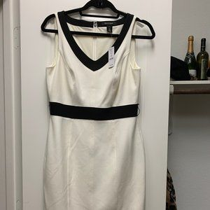 WHBM White and Black Dress size 6